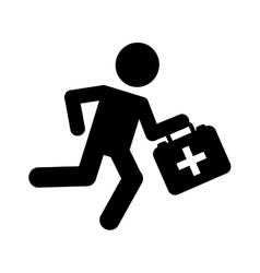 Paramedic running isolated icon design vector