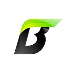 B letter black and green logo design fast speed vector