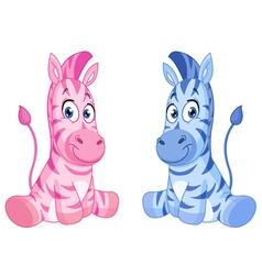 baby zebras vector image vector image