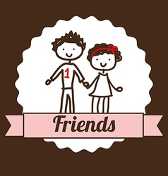 best friends design vector image