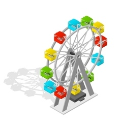 Big Wheel Isometric View vector image