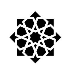 black arabesque ornament vector image vector image