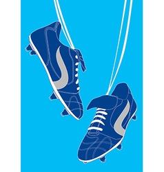 Blue football shoes vector