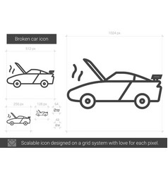 broken car line icon vector image
