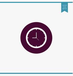 clock icon simple vector image vector image