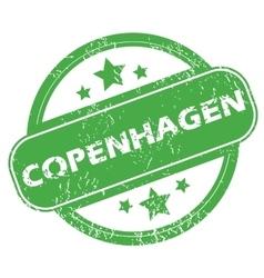 Copenhagen green stamp vector