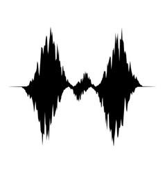Equalizer waveform icon simple black style vector