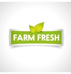 Farm fresh label vector image