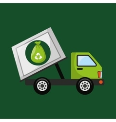 Garbage truck recycle icon design vector