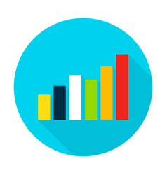 Graph flat circle icon vector