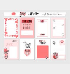hand drawn abstract graphic valentines day vector image vector image