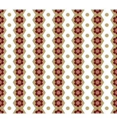 Honeycomb and circle seamless pattern vector