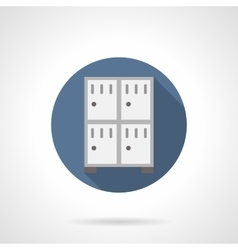 Lockers for stuff flat round icon vector