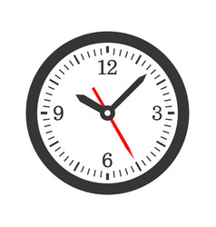 Mechanical circle clock dial set vector
