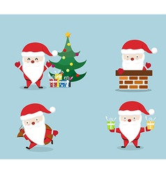 merry christmassanta claus set vector image