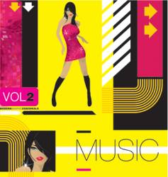 modern music vector image vector image