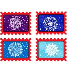 new year stamp and postmark vector image