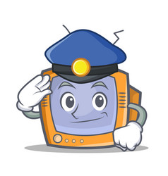 police tv character cartoon object vector image vector image