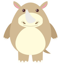 rhino with happy face vector image vector image