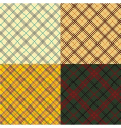 Scottish tartan set vector image vector image