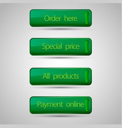 Set of commerce buttons vector