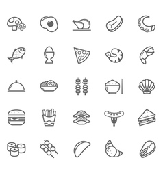 Set of Outline stroke Food icon vector image vector image