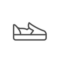 Slip-on shoe line icon vector