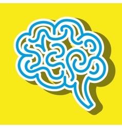 symbol of brain isolated icon design vector image
