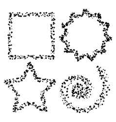 Dot shapes vector