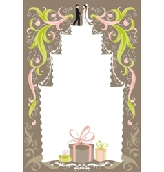 Wedding card with space for text vector image