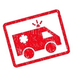 Emergency car icon rubber stamp vector