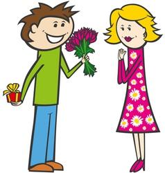 happy valentine card 02 vector image