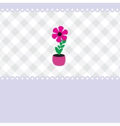 Growing plant flower in pot vector