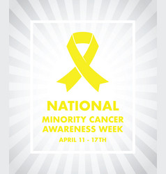 National minority cancer awareness ribbon vector