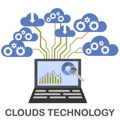 Clouds technology concept vector