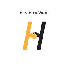 Creative h letter icon abstract logo design vector