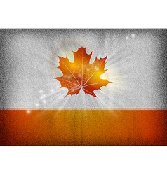 background autumn grey orange vector image