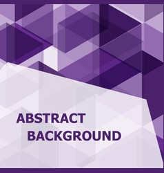 Abstract purple hexagon template background vector