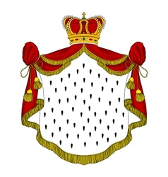 Medieval royal mantle vector image