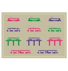 Public transportation icons series vector