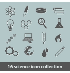 Science icon collection vector