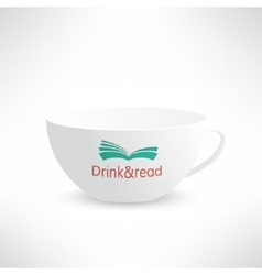 cup with book in realistic design Boooks vector image