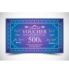Elegant voucher design for 500 dollars payment vector