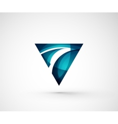 Abstract geometric company logo triangle arrow vector