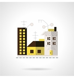 Rent apartments icon flat style vector