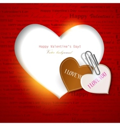 Gift card valentines day background vector