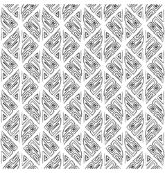 Abstract seamless hand drawn tribal black pattern vector image