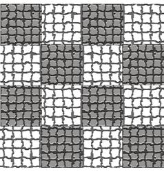 Checkered mosaic pattern vector image