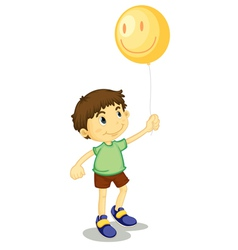 Boy and balloon vector
