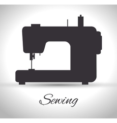 Sewing machine isolated icon design vector